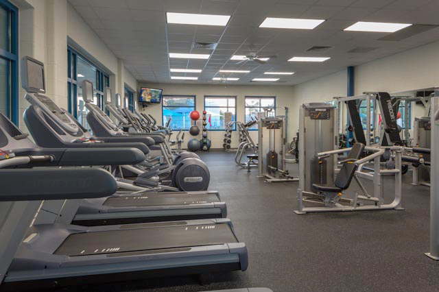 Fitness Center Workout Area
