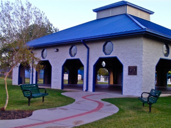 Newest edition to El Lago parks system is the all-purpose pavilion.